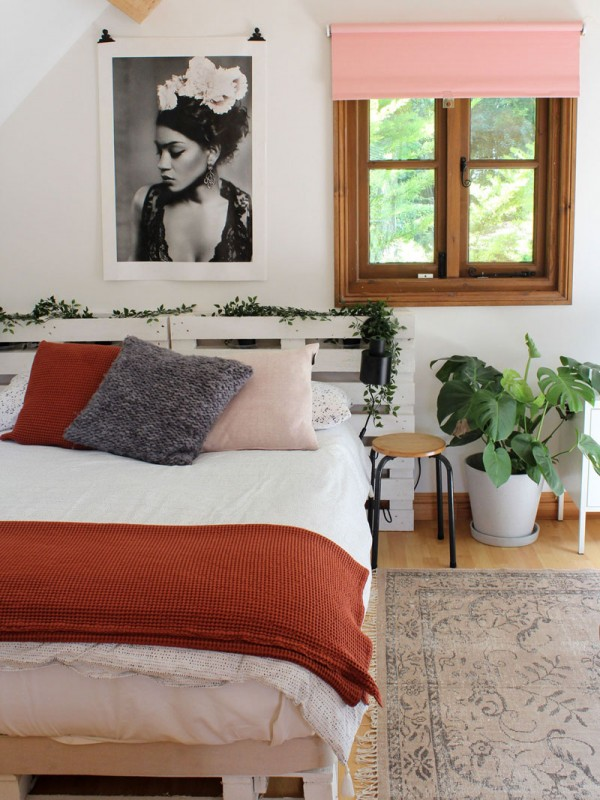 bedroom blinds styling